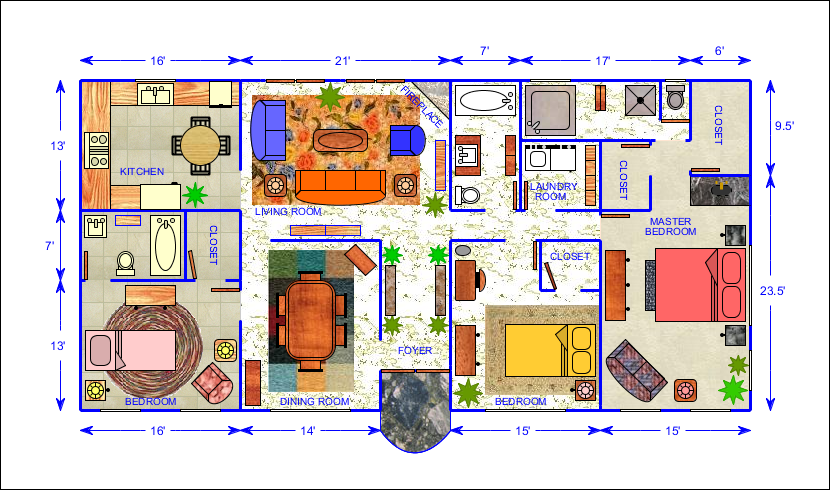 Floor plan 1 Bad floor plans examples